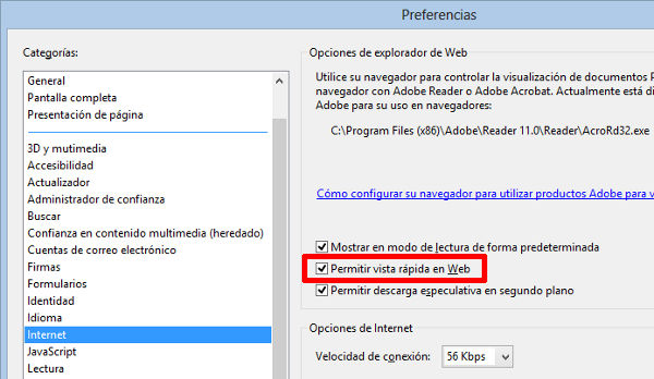 adobe, reader, preferencias