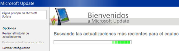 Windows Update, Windows XP, buscando, actualizaciones