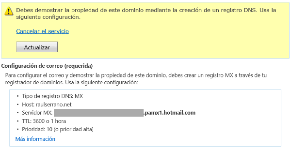 registro MX