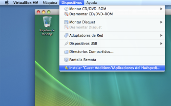 Instalación de las Guest Additions en VirtualBox